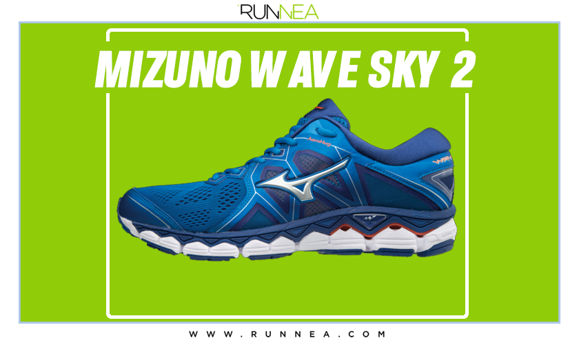 Zapatillas de running Mizuno tope de gama para corredores neutros - Mizuno Wave Sky 2