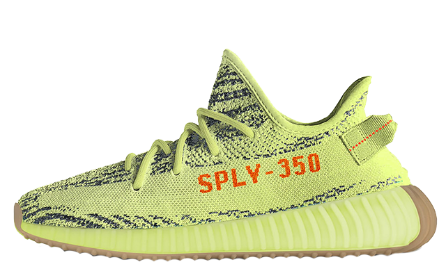 adidas B37572 Yeezy Boost 350 V2 Semi Frozen Yellow