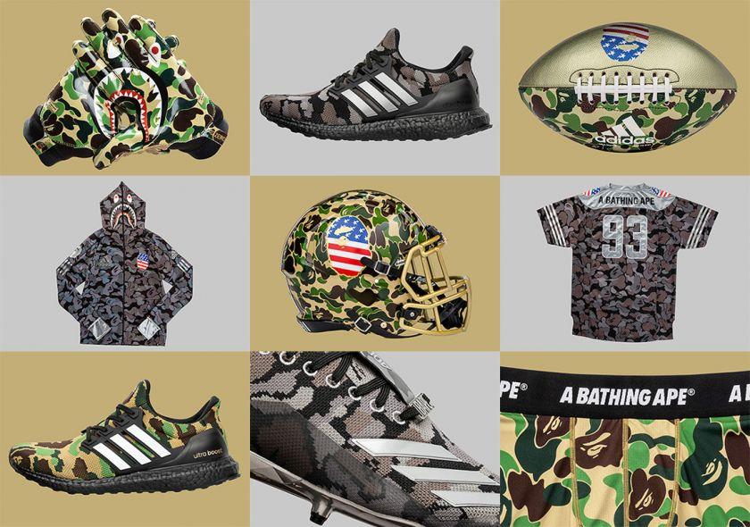 Colección BAPE x Adidas Ultraboost