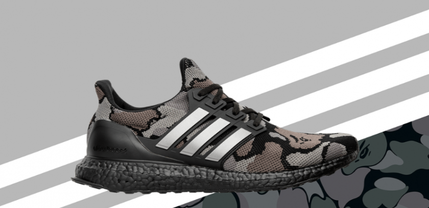 BAPE x Adidas Ultraboost Camo Grey