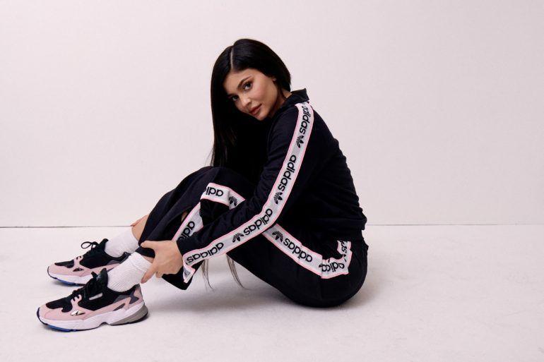 Adidas Falcon Kylie Jenner on feet