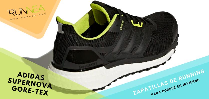 Zapatillas de running para correr invierno - Adidas Supernova Gore-Tex