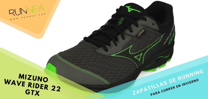 Zapatillas de running para correr invierno - Mizuno Wave Rider 22 GTX