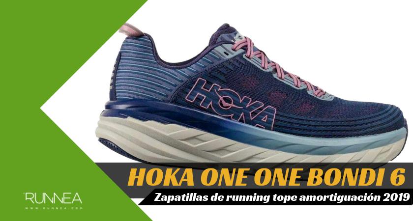 Mejores zapatillas de running tope de amortiguación 2019 para corredores neutros - Hoka One One Bondi 6