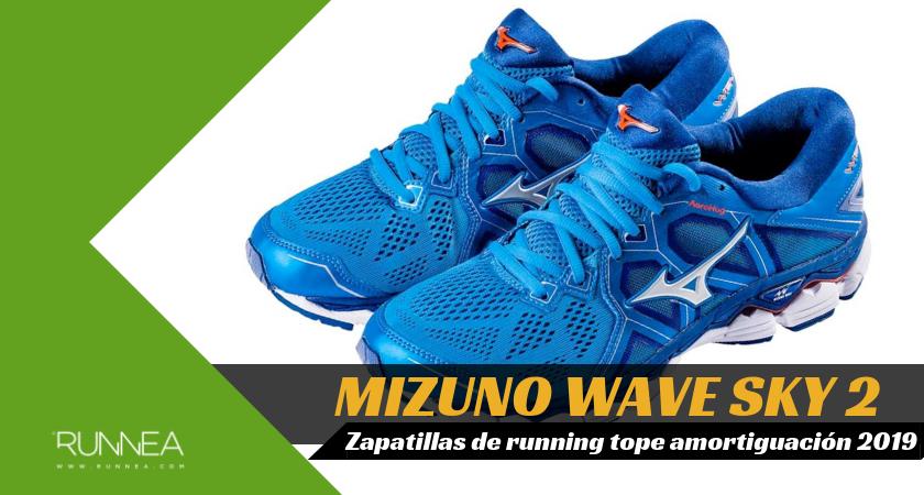 Mejores zapatillas de running tope de amortiguación 2019 para corredores neutros - Mizuno Wave Sky 2