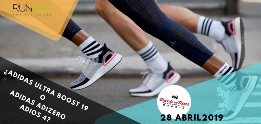 3064eb595fa32 Adidas Ultra Boost 19 o Adidas Adizero Adios 4 ¿Qué zapatilla de running  elegirás para correr el Maratón de Madrid 2019