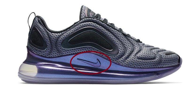 Nike Air Max 720 logos