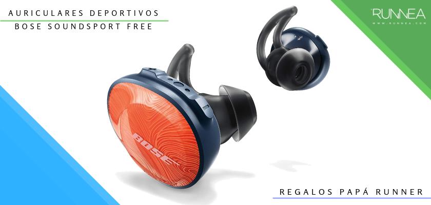 Ideas para regalar a un papá runner, auriculares inalámbricos: Bose SoundSport Free