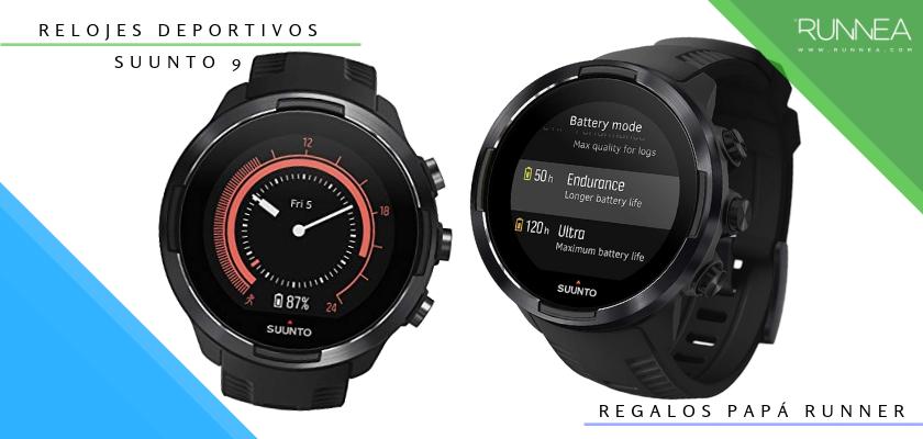 Ideas para regalar a un papá runner, relojes deportivos GPS: Suunto 9