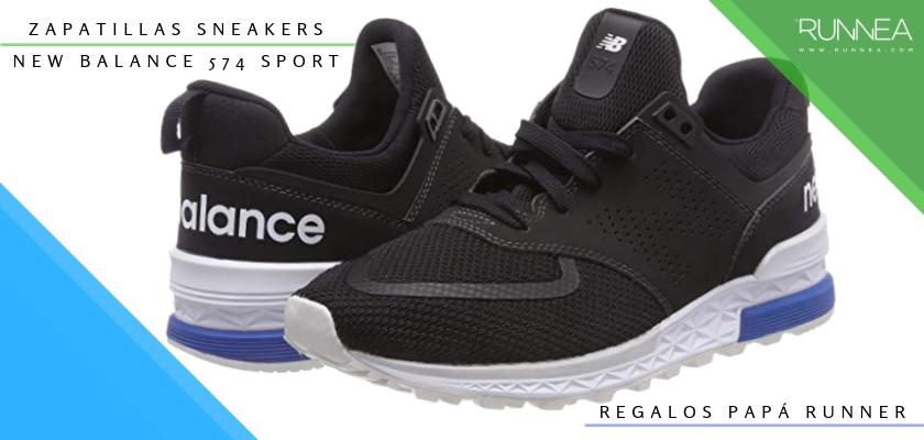 Ideas para regalar a un papá runner, zapatillas sneakers: New Balance 574 Sport