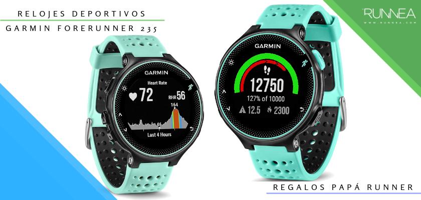 Ideas para regalar a un papá runner, relojes deportivos GPS: Garmin Forerunner 235
