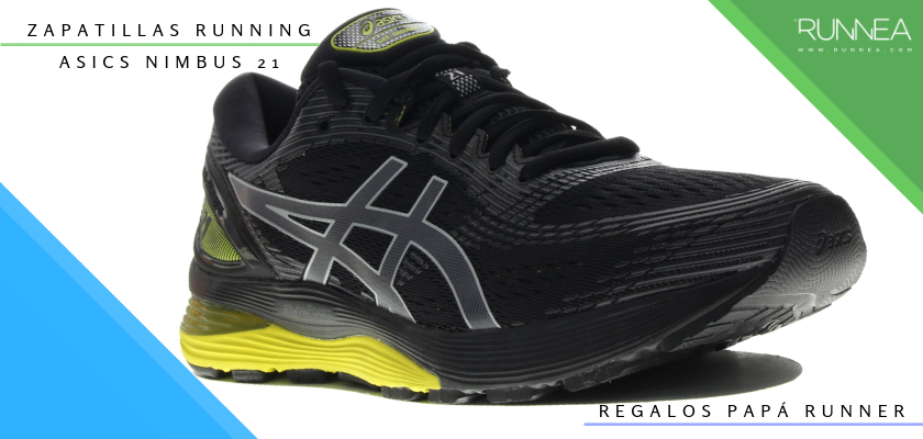 Ideas para regalar a un papá runner, zapatillas de running: ASICS Nimbus 21