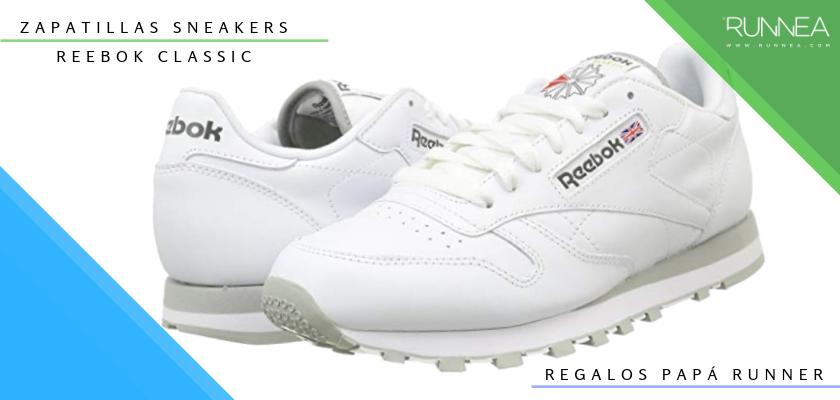 Ideas para regalar a un papá runner, zapatillas sneaker: Reebok Classic