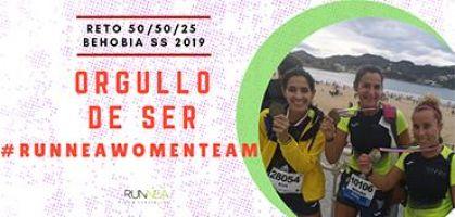 ¿Qué te motiva a ser integrante del Runnea Women Team y participar en el Reto 50/50/25 de la Behobia SS 2019?