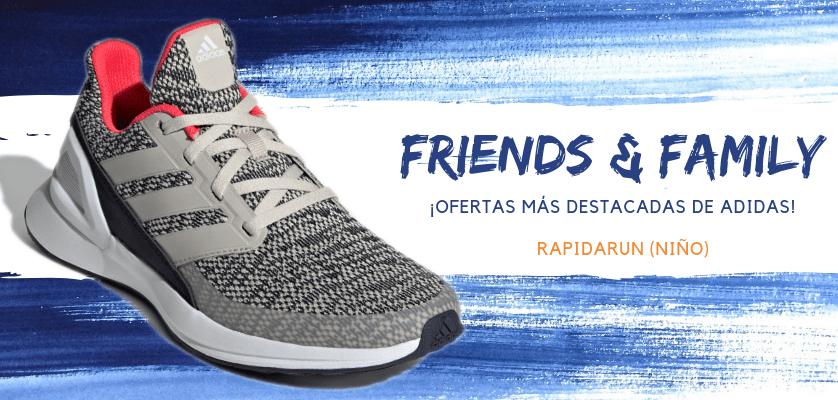 Zapatillas de running adidas en oferta con la promoción Friends & Family - RapidaRun para niño