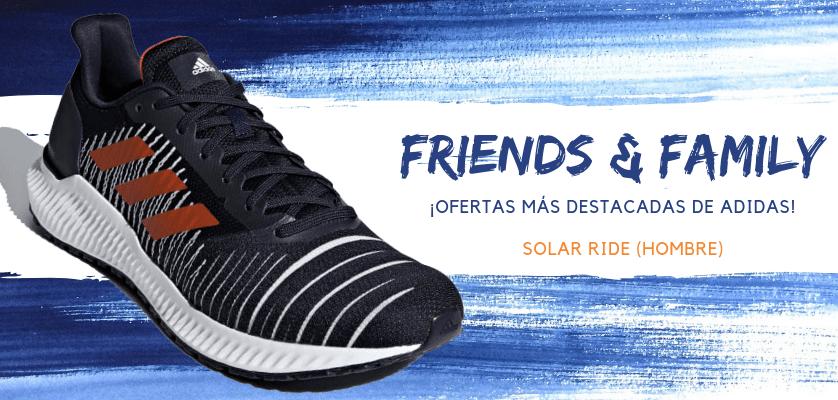 Zapatillas de running adidas en oferta con la promoción Friends & Family - Adidas Solar Ride para hombre