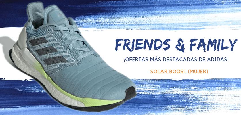 Zapatillas de running adidas en oferta con la promoción Friends & Family - Solar Boost para mujer