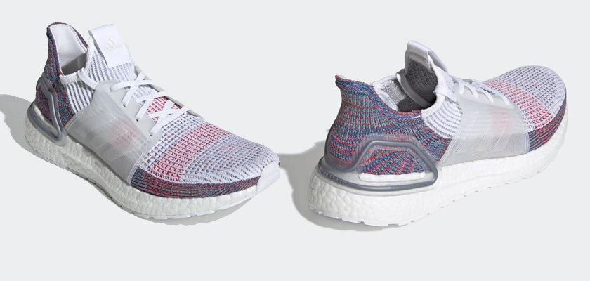 Colores disponibles de las Adidas Ultra Boost 19 - FTWR WHITE/CRYSTAL WHITE/BLUE (Hombre)