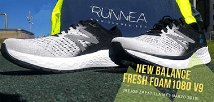 La mejor zapatilla del mes de marzo de Runnea es la New Balance Fresh Foam 1080 v9