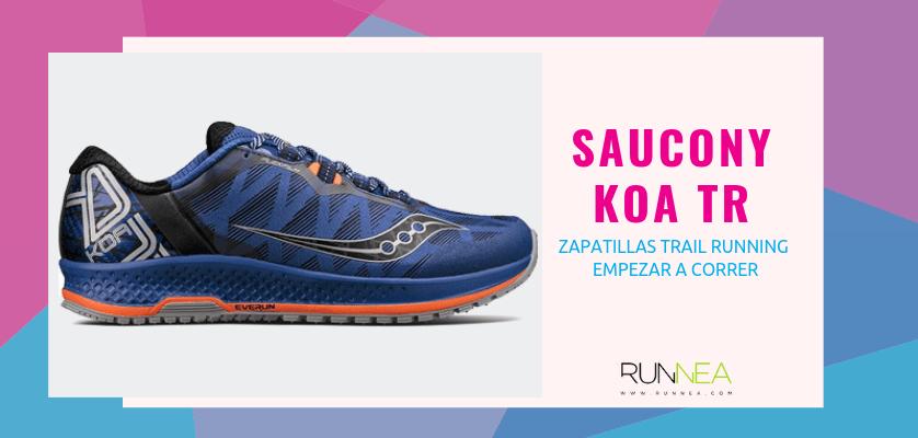 Las 10 zapatillas trail running para empezar a correr - Saucony KOA TR