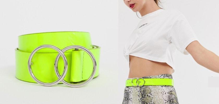 Tendencia de la semana, el verde lima/neón en estos 6 complementos ¡queda espectacular!, cinturón