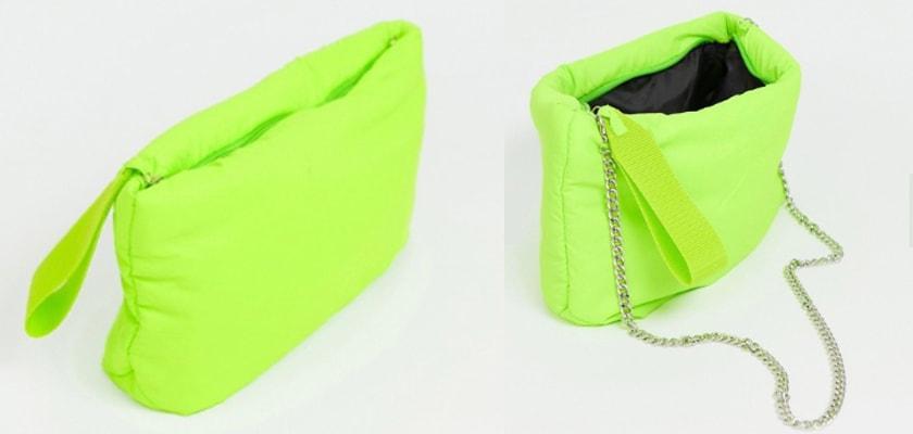 Tendencia de la semana, el verde lima/neón en estos 6 complementos ¡queda espectacular!, bolso tipo clutch