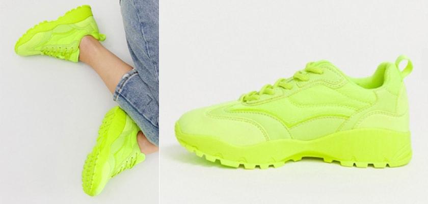 Tendencia de la semana, el verde lima/neón en estos 6 complementos ¡queda espectacular!, sneakers
