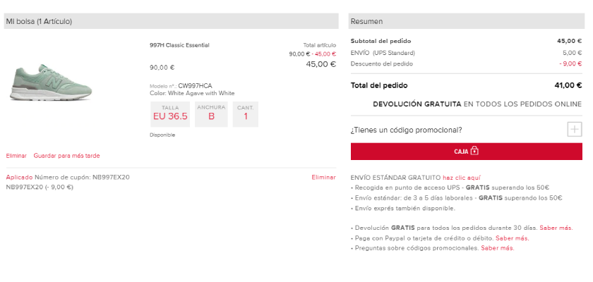 New Balance 997H, compra