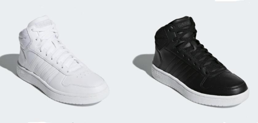 Adidas Hoops Mid 2.0 los encuentras en blanco y negro