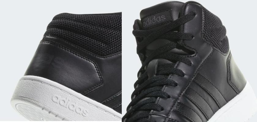 Adidas Hoops Mid 2.0 la marca deja su logo en las zapatillas