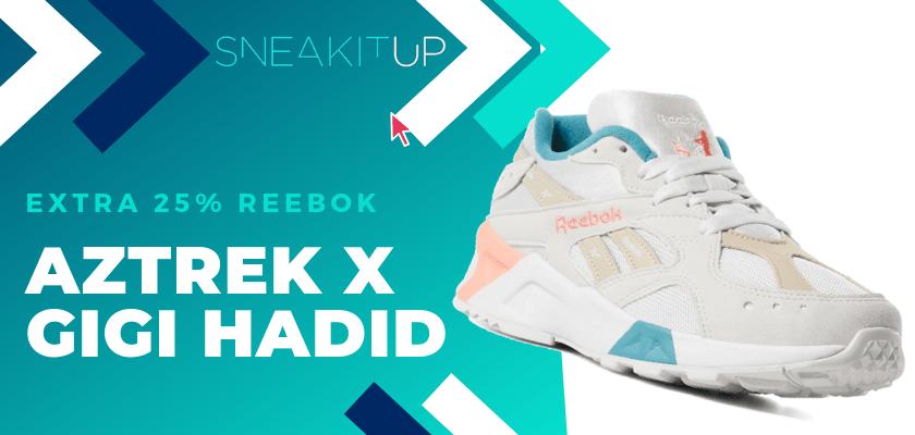 25% extra de descuento en productos ya rebajados de Reebok ¡aplica el código!, Reebok Aztrek X Gigi Hadid