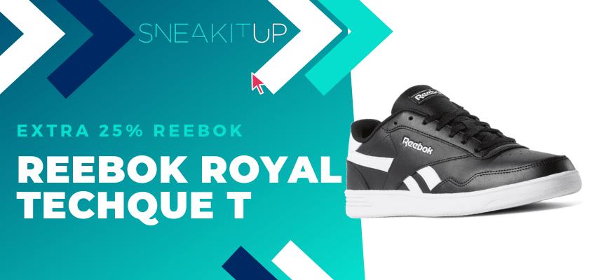 25% extra de descuento en productos ya rebajados de Reebok ¡aplica el código!, Reebok Royal Techque T