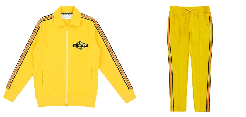 Chandal amarillo de la colección primavera-verano 2019 de Onitsuka Tiger