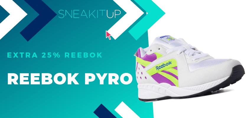 25% extra de descuento en productos ya rebajados de Reebok ¡aplica el código!, Reebok Pyro