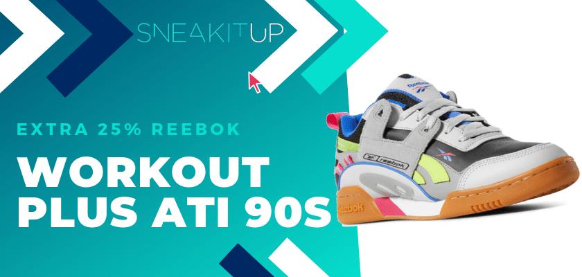 25% extra de descuento en productos ya rebajados de Reebok ¡aplica el código!, Reebok Workout Plus ATI 90s