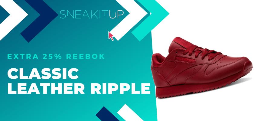 25% extra de descuento en productos ya rebajados de Reebok ¡aplica el código!, Reebok Classic Ripple