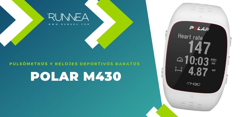 Pulsómetros y relojes deportivos por menos de 150€ - Polar M430