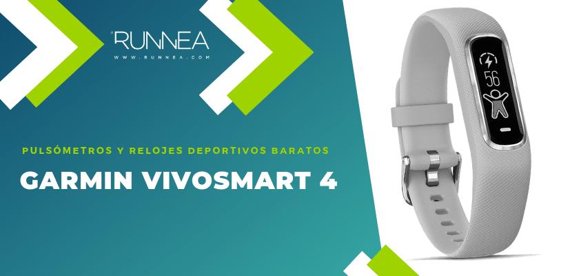 Pulsómetros y relojes deportivos por menos de 150€ - Garmin Vivosmart 4