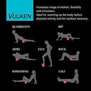 Vulken VulkRool 4 Speed foam roller, ejercicios - foto 3