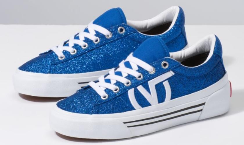 Colección SID NI de Vans con glitter