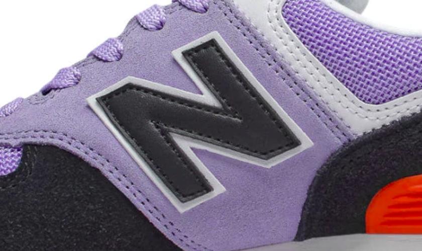 New Balance 574 originales o falsas, el logo muchas veces está mal diseñado