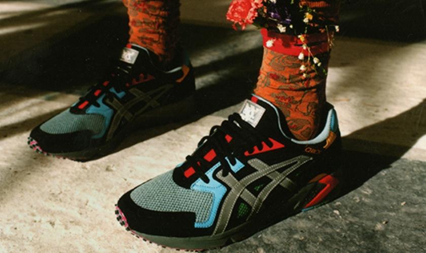 Gel DS Trainer OG  cuenta en la parte superior con los colores de la Vivienne Westwood
