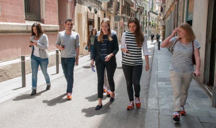Estas Sneakairs fue probada en Barcelona