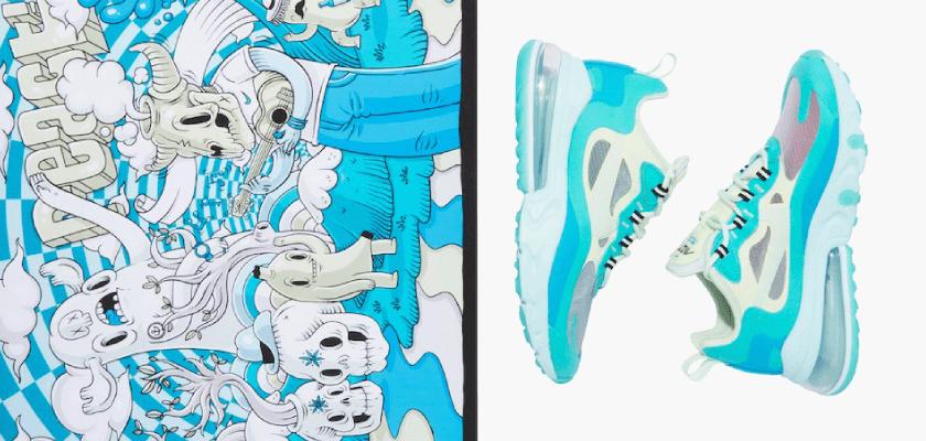 Movimientos artísticos que inspiran los nuevos colores de las Nike Air Max 270 React, Arte psicodélico o arte lisérgico