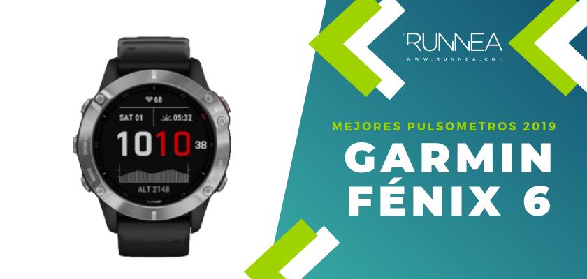 Los mejores pulsómetros GPS 2019, Garmin Fénix 6