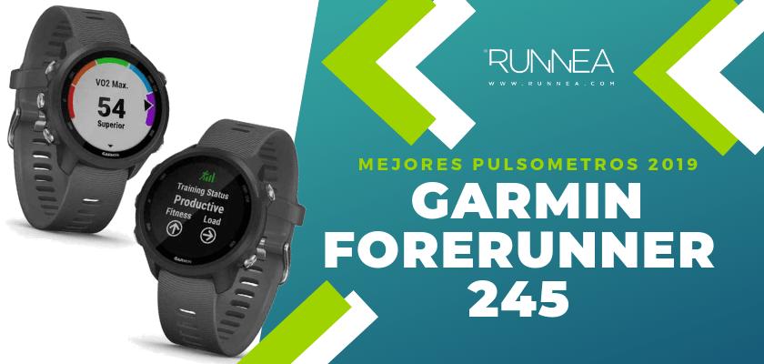 Mejores pulsómetros GPS 2019 - Garmin Forerunner 245