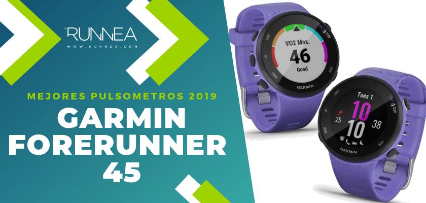 Mejores pulsómetros GPS 2019 - Garmin Forerunner 45