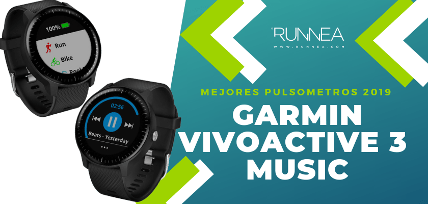 Mejores pulsómetros GPS 2019 - Garmin Vivoactive 3 Music
