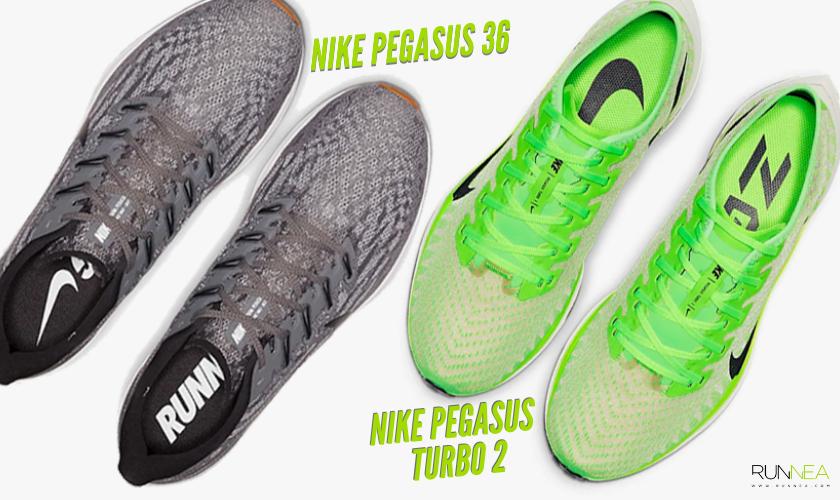Diferencias entre las Nike Pegasus 36 y Nike Pegasus Turbo 2