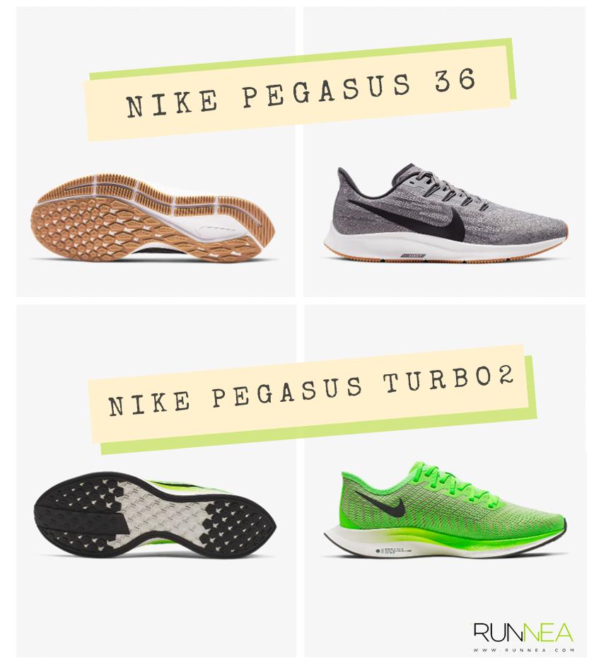 Nike Pegasus 36 y Nike Pegasus Turbo 2, puntos en común